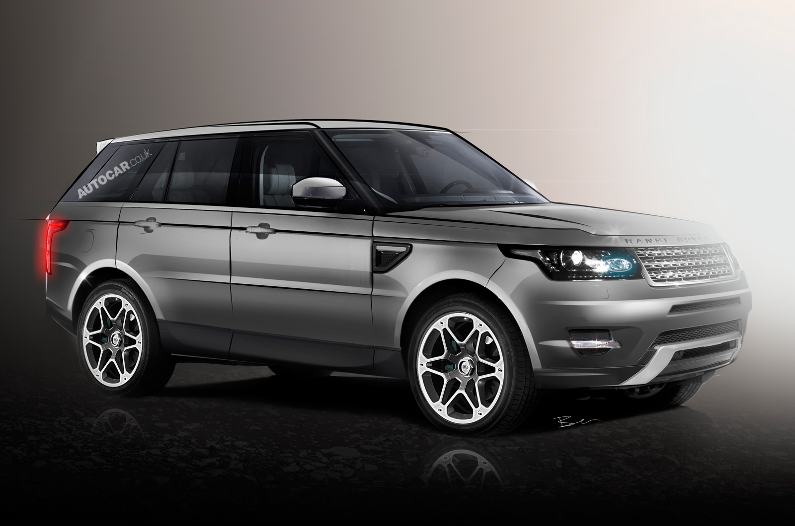 Land rover is putting the final touches to the new range rover sport